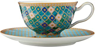 Maxwell & Williams HV0117 Teas & C's Kasbah Tea Cup and Saucer Set in Gift Box, Porcelain, Mint Green, 200 ml