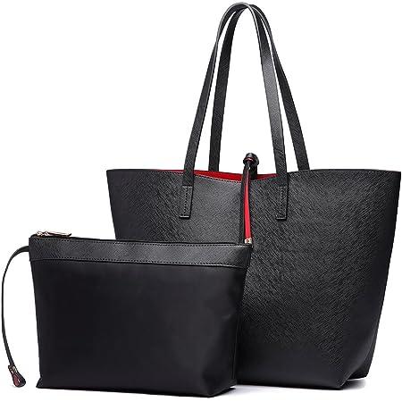 Miss Lulu Faschionable Tote Bag Shopper Schultertasche Umhängetasche PU-Leder Praktisch