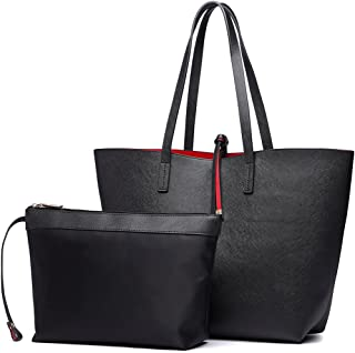 Miss Lulu 3 Pieces Women Handbag + Cross Body Shoulder Bag + Purse Ladies PU Leather Fashion Tote Girls Messenger Satchel