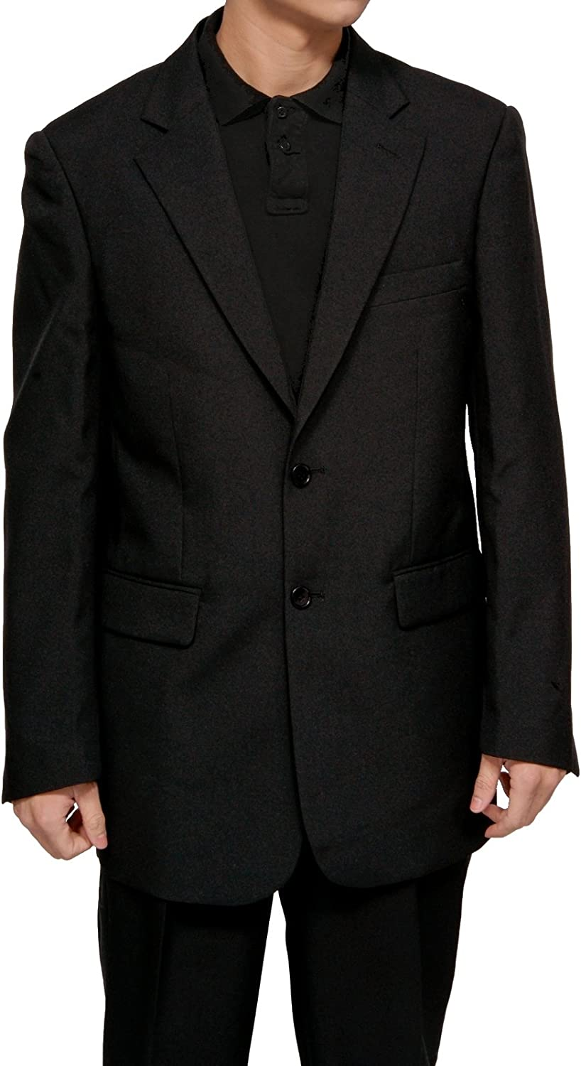 New Men's 2 Button Single Breasted Black Dress Suit - Includes Jacket and Pants