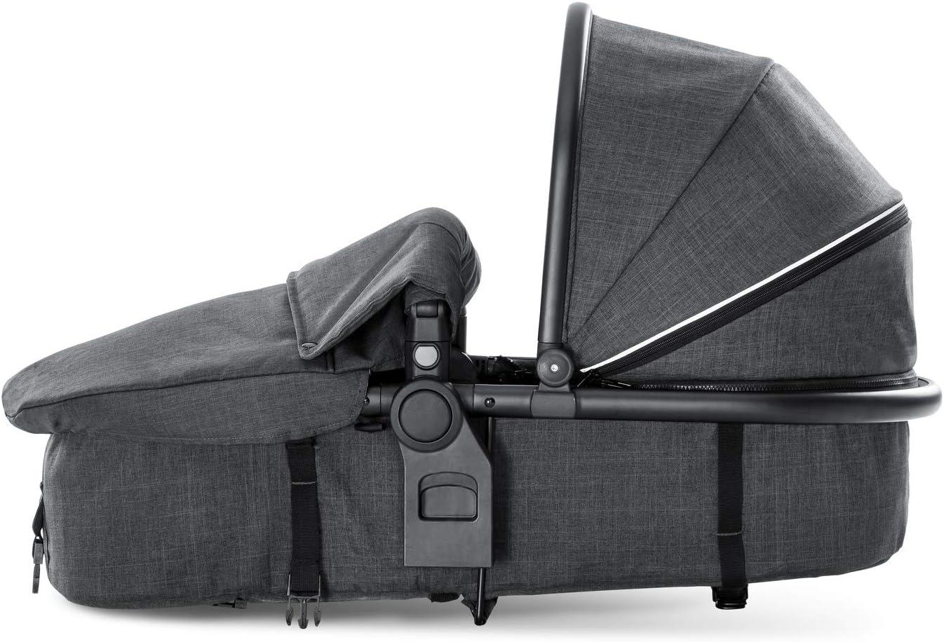 capota convertible grande Hauck capazo para cochecito de hermanos Duett 3 gris montaje sin adaptador desde nacimiento hasta 9 kg transforma el Duett 3 en cochecito doble para reci/én nacidos