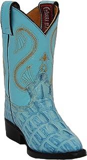 Kids Crocodile Alligator Print Western Cowboy Leather Boots Toddler Little Kid