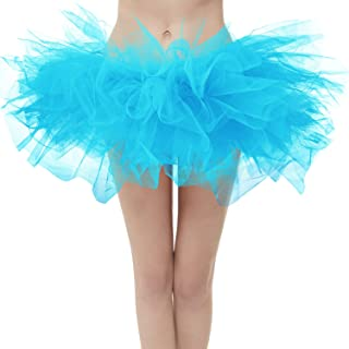 Women's Vintage 5 Layered Tulle Tutu Puffy Ballet Bubble...
