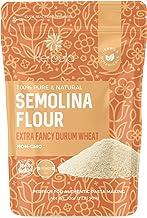 Semolina Flour 2lbs / 32oz, Fine Semolina Flour for Pasta, Pizza Dough, Cake Flour and Bread Flour, 100% Fine Ground All-N...