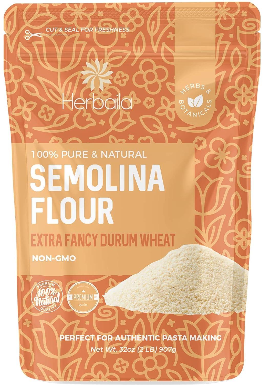 Semolina Flour 2lbs / 32oz, Fine Semolina Flour for Pasta, Pizza