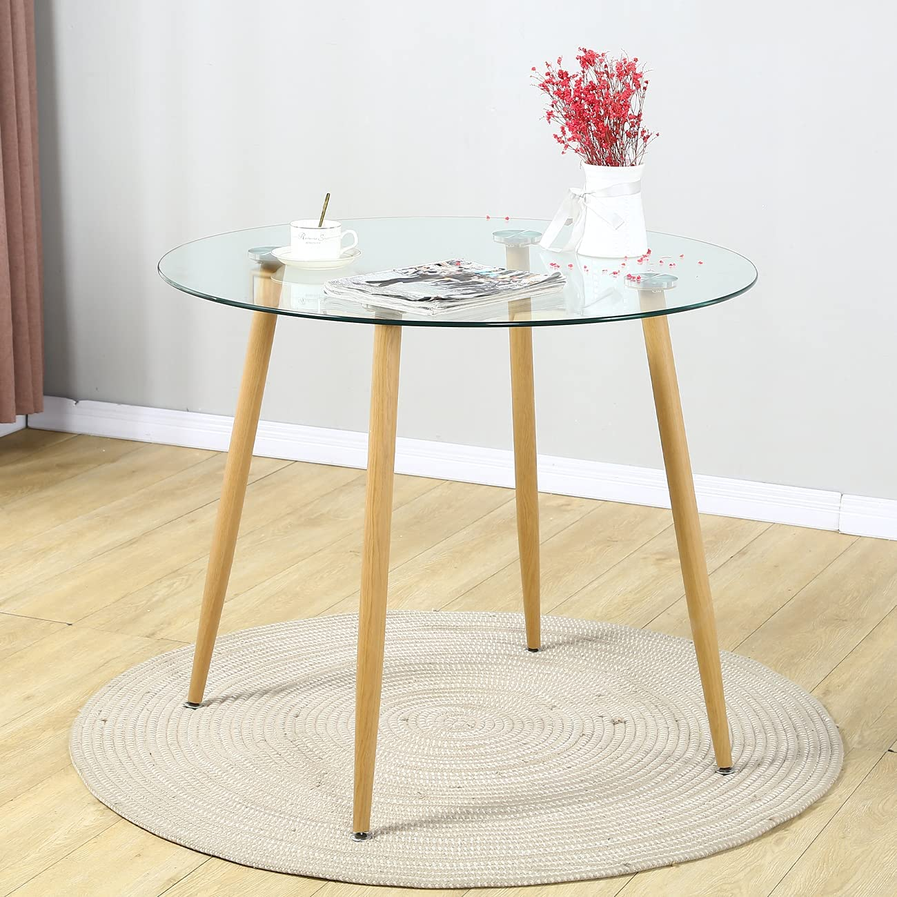 Round Dining 2021 free model Table - Small Space Glass Modern