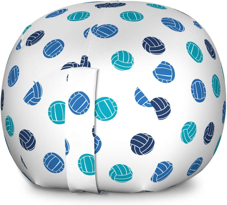 Lunarable Volleyball High material Storage Toy Bag Do Ball Chair Excellence Theme Sports