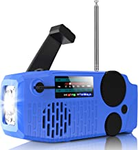 Geartist Submarine 1 Solar Emergency Weather AM FM NOAA/WB Alert Hand Crank Wind up Radio with SOS, 2000mAh Power Bank Led...