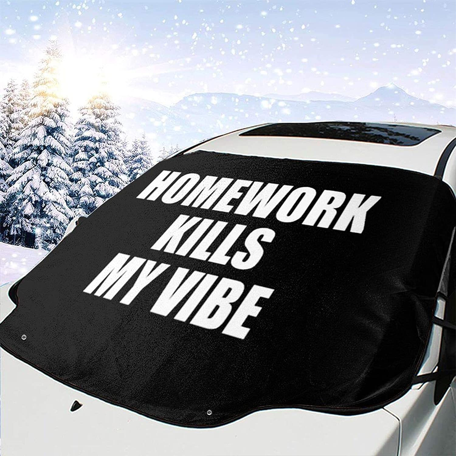 Homework Deluxe Kills My Vibe Windshield Snow Wiper Max 58% OFF Ice Removal Cover V