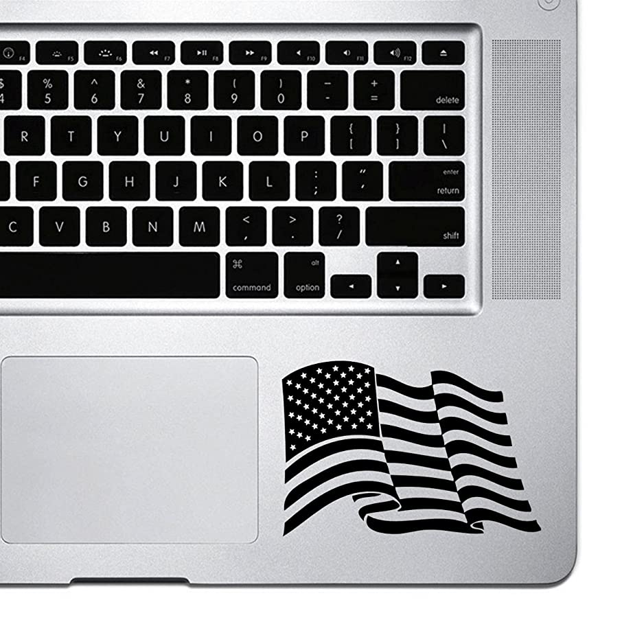 StickAny Palm Series American Flag Sticker for Macbook Pro, Chromebook, and Laptops (Black)