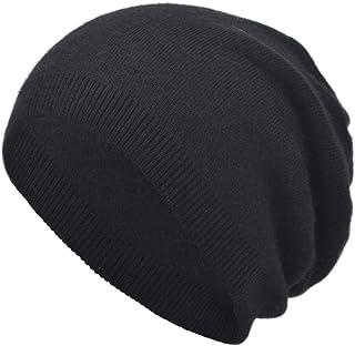 EASTER BARTHE Cashmere Slouchy Beanie Winter Warm Knit Hat for Women Men Cashmere Wool Knit Beanie Ski Skull Stocking Cap Hat