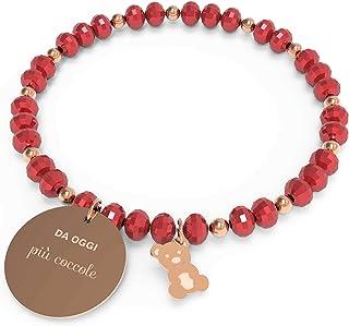 10 Buoni Propositi Bracciale Donna Coccole Collezione Crystal Rose Gold