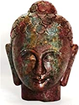 Natural Ruby Gemstone Hand Carved Buddha Head Buddha Figurine Statue with Free Authenticity Certificate & EBook About Crys...