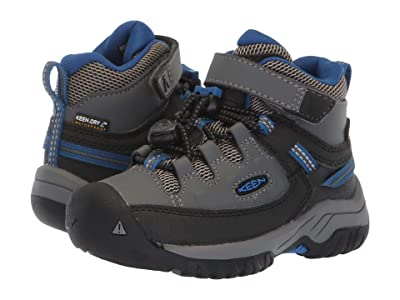 KEEN Kids Targhee Mid WP (Toddler/Little Kid) (Steel Grey/Baleine) Boy
