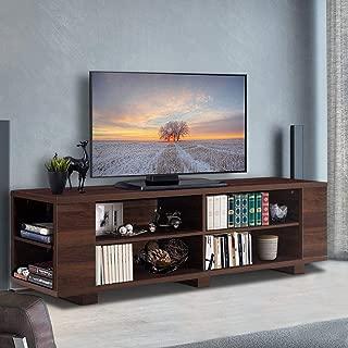 Tangkula TV Stand Modern Wood Storage Console...