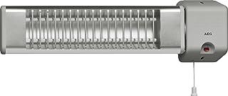 AEG 183595 IWQ 120 - Calefactor de pared por infrarrojos (aluminio, 1200 W, 230 V), color gris claro