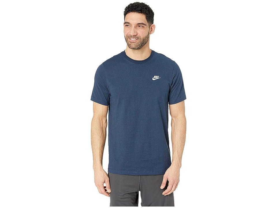 Nike NSW Club Tee (Obsidian/White) Men