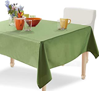 YEMYHOM 100% Polyester Spillproof Tablecloths for Rectangle Tables 60 x 104 Inch Indoor Outdoor Camping Picnic Rectangular Table Cloth (Army Green)