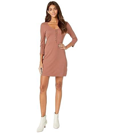 RVCA Twister Rib Dress (Nutmeg) Women