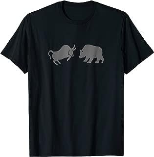 Bull and Bear Stock Market Forex Trader T-Shirt (grey)