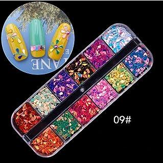 DIY Nail Sticker,Jeerui Colorful 3D Makeup Manicure Nail Decals Decoration Star Diamond Ring Pattern Manicure Sticker Kit (B)