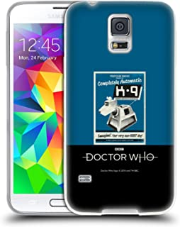 Official Doctor Who K9 Classic Glitch Posters Soft Gel Case Compatible for Samsung Galaxy S5 / S5 Neo