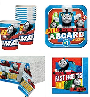 Thomas The Train All Aboard Party Pack for 16 Guests
