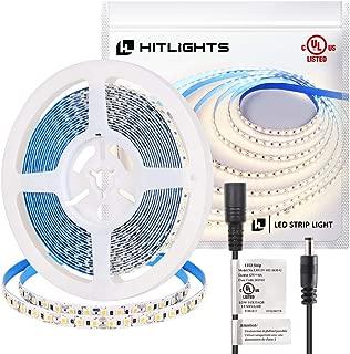HitLights Neutral White LED Strip Lights, UL-Listed Premium High Density 2835-16.4 Feet, 600 LEDs, 4000K, 44W, CRI 90+, 12V DC LED Tape Lights for Under Cabinet, Kitchen, Lighting Project