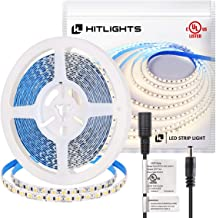 HitLights Neutral White LED Strip Lights, UL-Listed Premium High Density 2835-16.4 Feet, 600 LEDs, 4000K, 44W, CRI 90+, 12V DC LED Tape Lights for Under Cabinet, Kitchen, Lighting Project