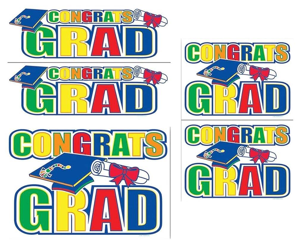 Congrats Grad Auto-Clings Party Accessory (1 count) (5/Pkg)