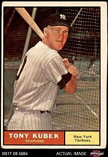 1961 Topps # 265 Tony Kubek New York Yankees (Baseball Card) Dean`s Cards 2 - GOOD Yankees
