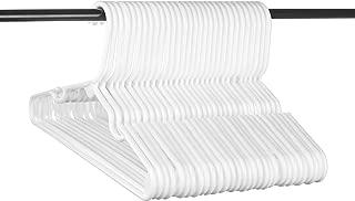 Neaties Children's Size White Plastic Hangers, USA Made Long Lasting Tubular Hangers, Set of 30
