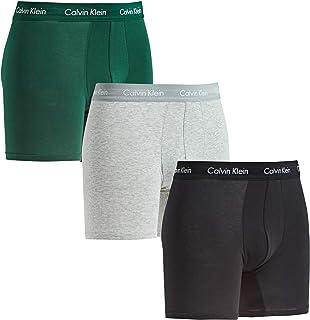 Calvin Klein Men's Boxer Brief 3pk, Green (Alligator/Grey Heather/Black Ags), Large (Pack of 3)