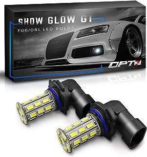 OPT7 Show Glow G1 LED Fog Light Bulbs - 9006-10000K Deep Blue - All Bulb Sizes and Colors - 225 LMS per Bulb - 27-SMD - Plug-n-Play (Pack of 2)
