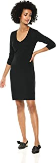 Amazon Brand - Daily Ritual Women's Jersey 3/4-Sleeve V-Neck T-Shirt Dress