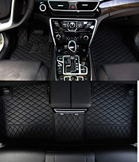 Worth-Mats for Infiniti Q50 Floor Mats - All Weather, Large Coverage, Heavy Duty Full Set Floor Liner, Custom Fits Car Mats (Black with Black Stitching)