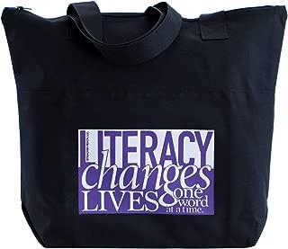 Teacher Peach English Teacher Tote Bag, Large Shoulder Bag with Zipper Closure - Best for Teacher Appreciation, Retirement, or New School Teacher Gifts for Women