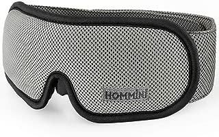 Sleep Mask, HOMMINI Breathable Eye Mask for Sleeping Grey Memory Foam Blindfold Light Blocking with Travel Pouch, Best Sleeping Mask for Travel/Shift Work/Office Nap Unisex (Men/Women)