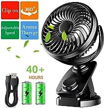 360 ° ventilateur Portable Alimenté par Batterie USB Clip On Mini Bureau Landau Voiture Ventilateur Vert