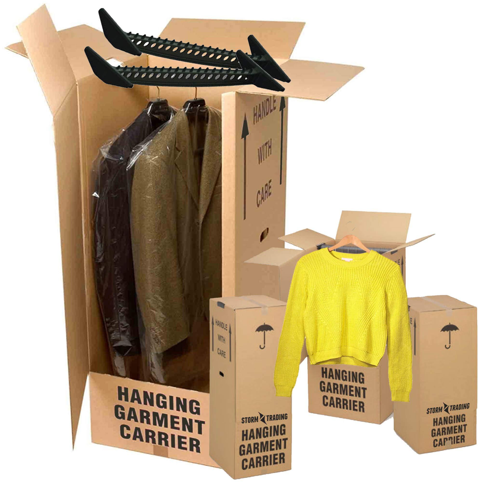 5 gran PPD extracción fuerte mudanza cajas de cartón armario: Amazon.es: Oficina y papelería