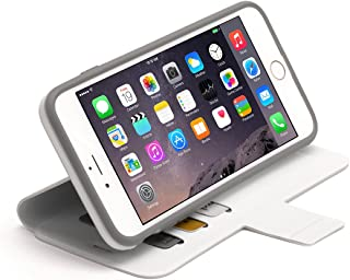 White Identity Protective Wallet Case for iPhone 6 Plus/6s Plus