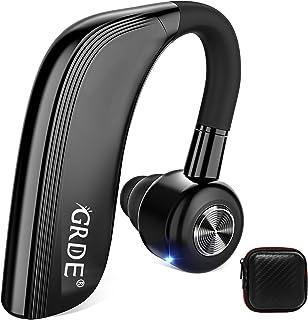 Auriculares Manos Libres Siri, Auricular Bluetooth Inalámbrico 25H Conversación con Micrófono HD Cancelación de Ruido, Girar 180 °, para iPhone Xiaomi Huawei Samsung etc Deportivo y Driying