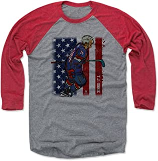 500 LEVEL T.J. Oshie Shirt - Vintage Washington Hockey Raglan Tee - T.J. Oshie Sketch Flag