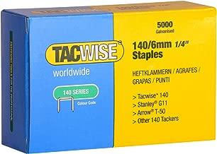 Tacwise 0340 Grapas galvanizadas de tipo 140/6 mm, 6 mm, Set de 5000 Piezas