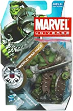 Marvel Universe Year 2010 Series 3 Shield Single Pack 4-1/2 Inch Tall Action Figure #3 - World WAR Hulk with Long Sword, Battle Axe, Shield and Figure Display Stand