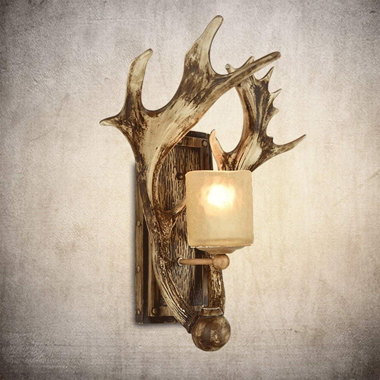 GZ Retro Wandleuchte Wohnzimmer Antler Lampe Gang Schlafzimmer Nachttischlampe Nordic Antler Wandleuchte