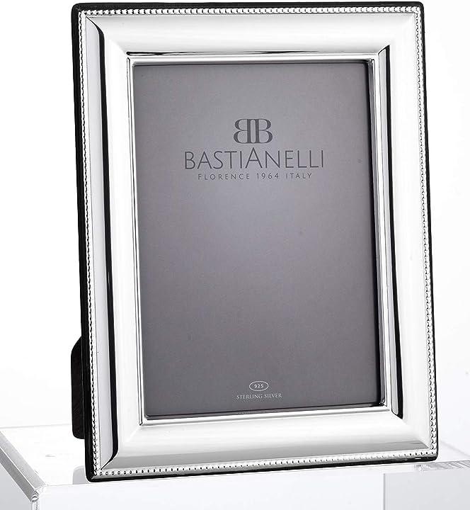 Cornice in argento, 13 x 18, 925% angolo lucida perlinata - bastianelli B08QFSBC9L