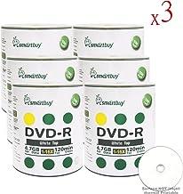 Smartbuy 4.7gb/120min 16x DVD-R White Top Blank Data Video Recordable Media Disc (1800-Disc)