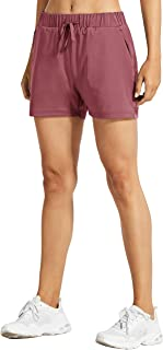 Libin Women's 3 Inch Yoga Lounge Shorts Lightweight Active Running Workout Shorts Casual Hiking Shorts