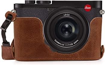 MegaGear Ever Ready Genuine Leather Camera Half Case Compatible with Leica Q2